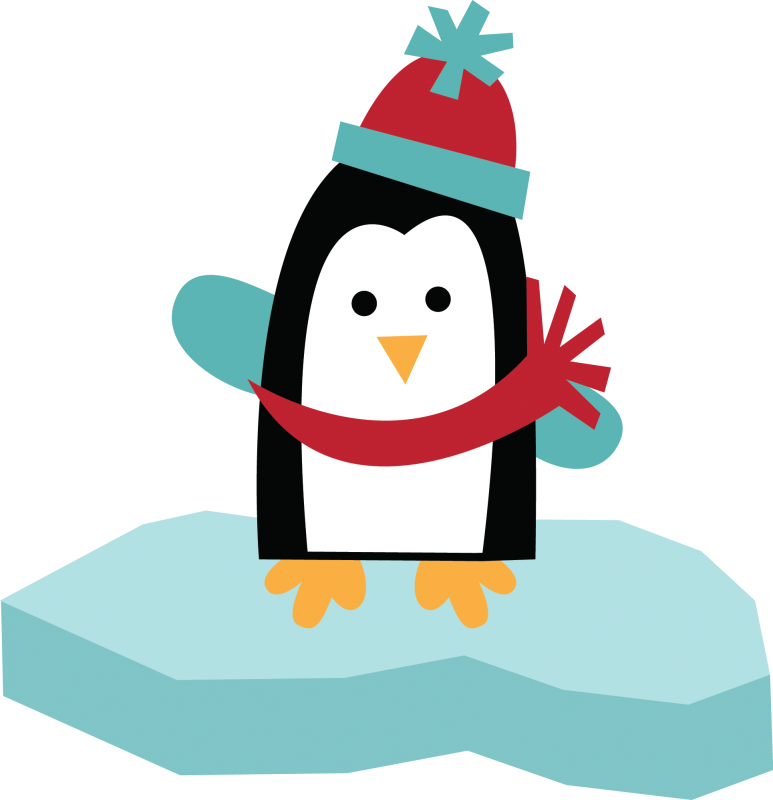 Holiday Penguin Clip Art