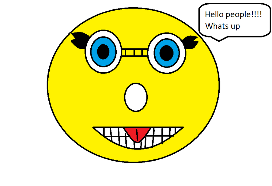 Smiley Face Thumbs Up Cartoon