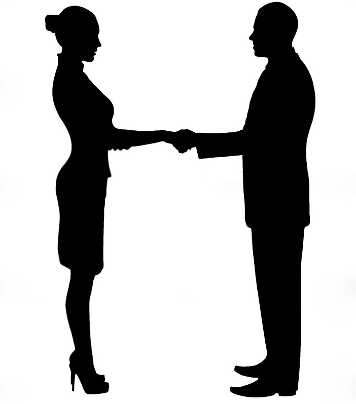 Business People Silhouette Shaking Hands | Clipart Panda ...