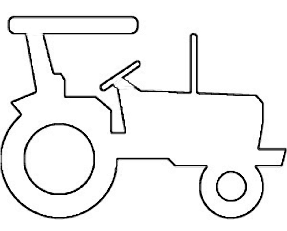 Line Drawing Tractor : Farm tractor clipart cliparts