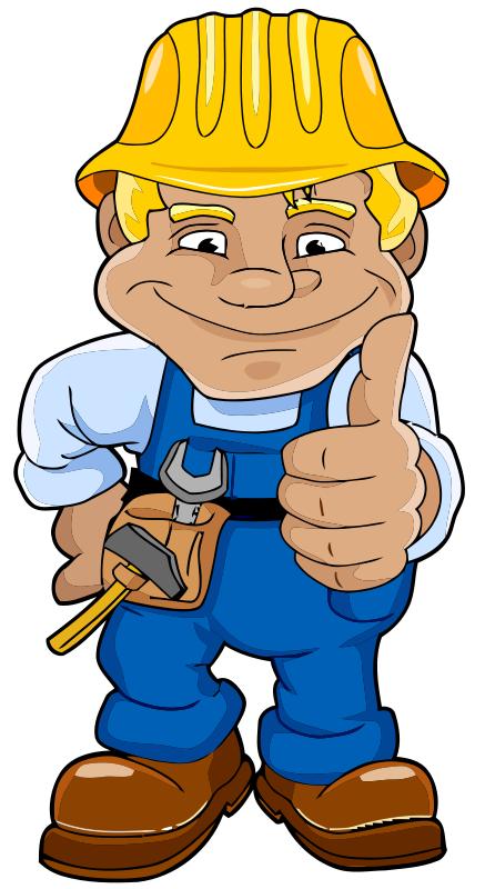 clipart construction worker cartoon - photo #5