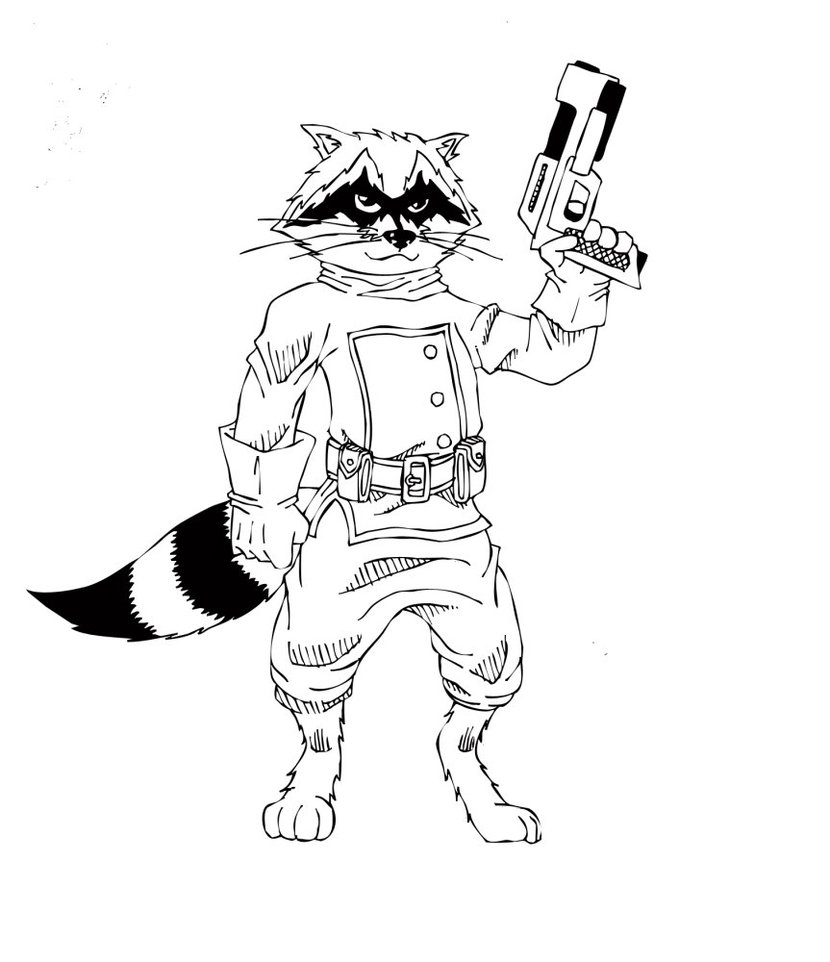 Star Lord And Rocket Raccoon By Timothygreenii On Deviantart: How To Draw A Raccoon Eating