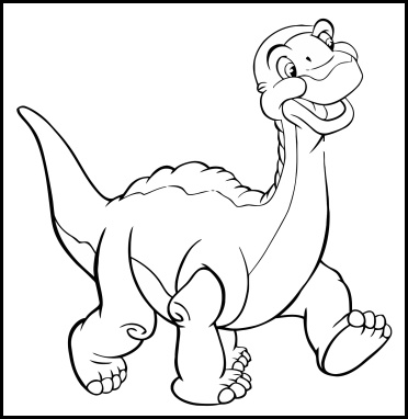 The Land Before Time Coloring Pages | 382x372