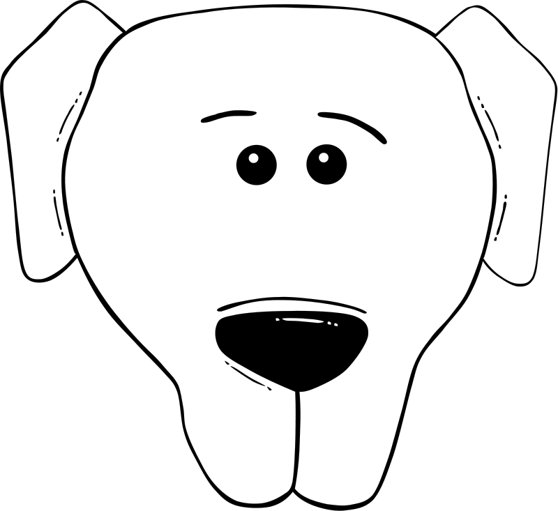 Dog Face Cartoon - World Label Free Vector / 4Vector