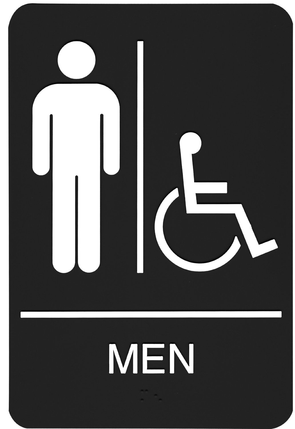 Bathroom sign with arrow - Amazon Com Headline Sign 8358 Ada Wheelchair Accessible Men S