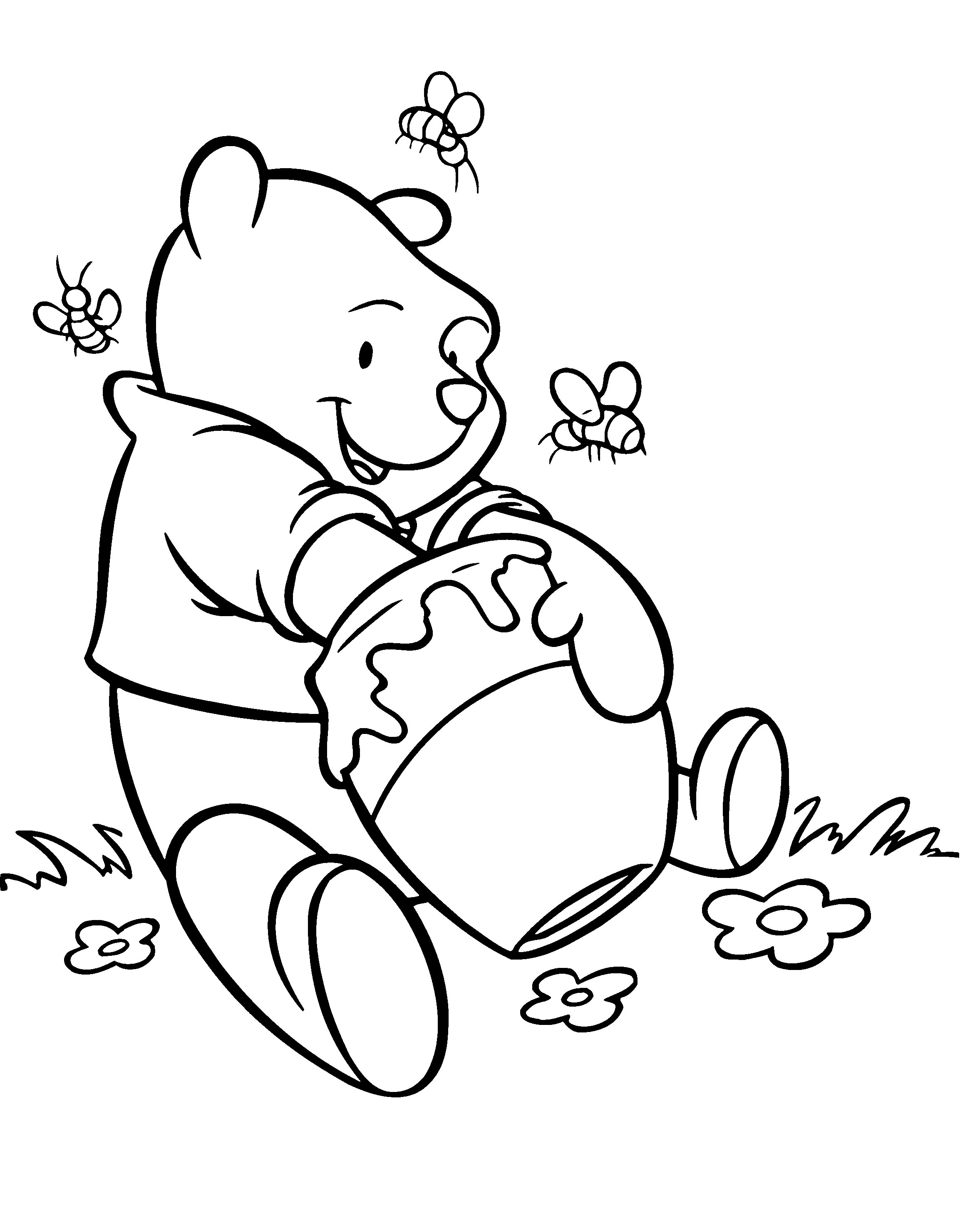 Free coloring pages winnie the pooh