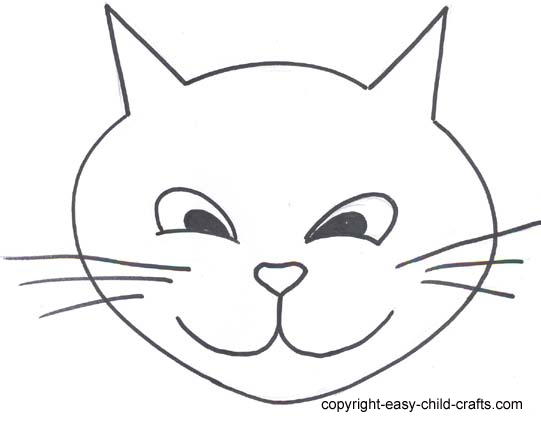 printable cat face coloring pages - photo#19