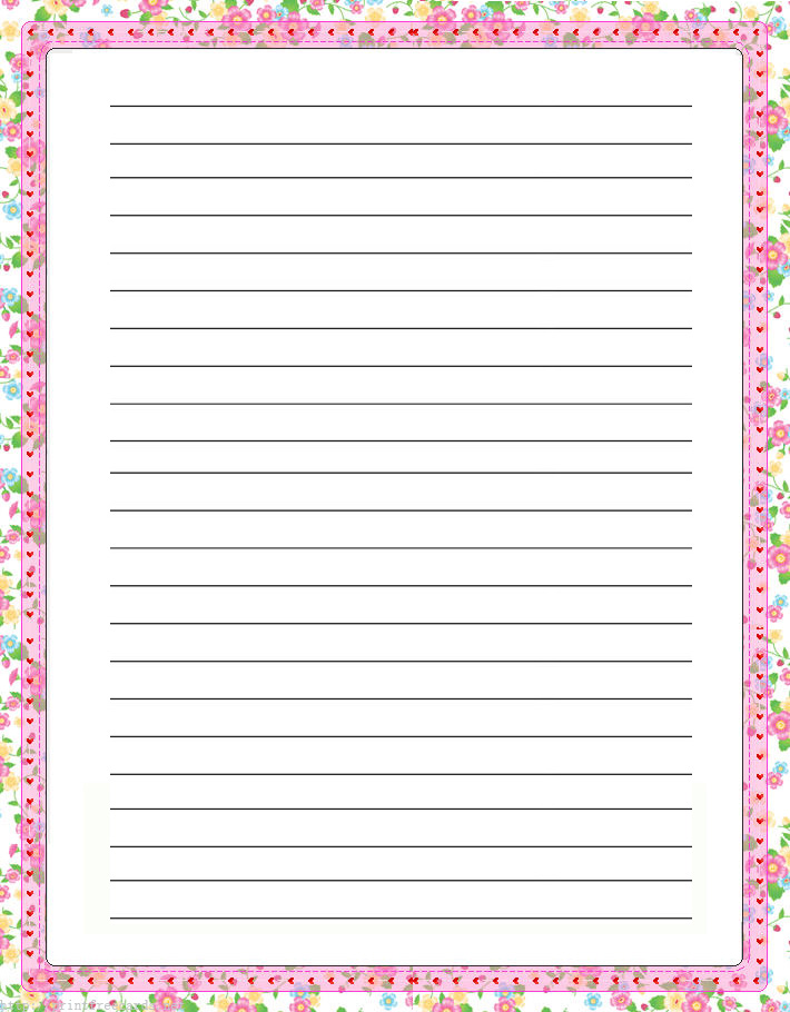 photograph relating to Free Printable Stationary Borders named No cost Printable Border Stationery -