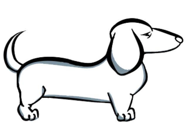 Line Drawing Dachshund : Dachshund tattoo designs cliparts