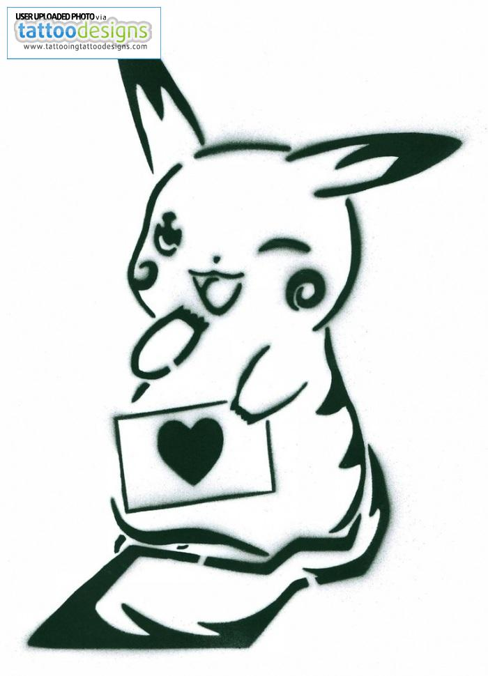 Pikachu Stencil Remake By Animeandspray Sbby Image | Tattooing ...