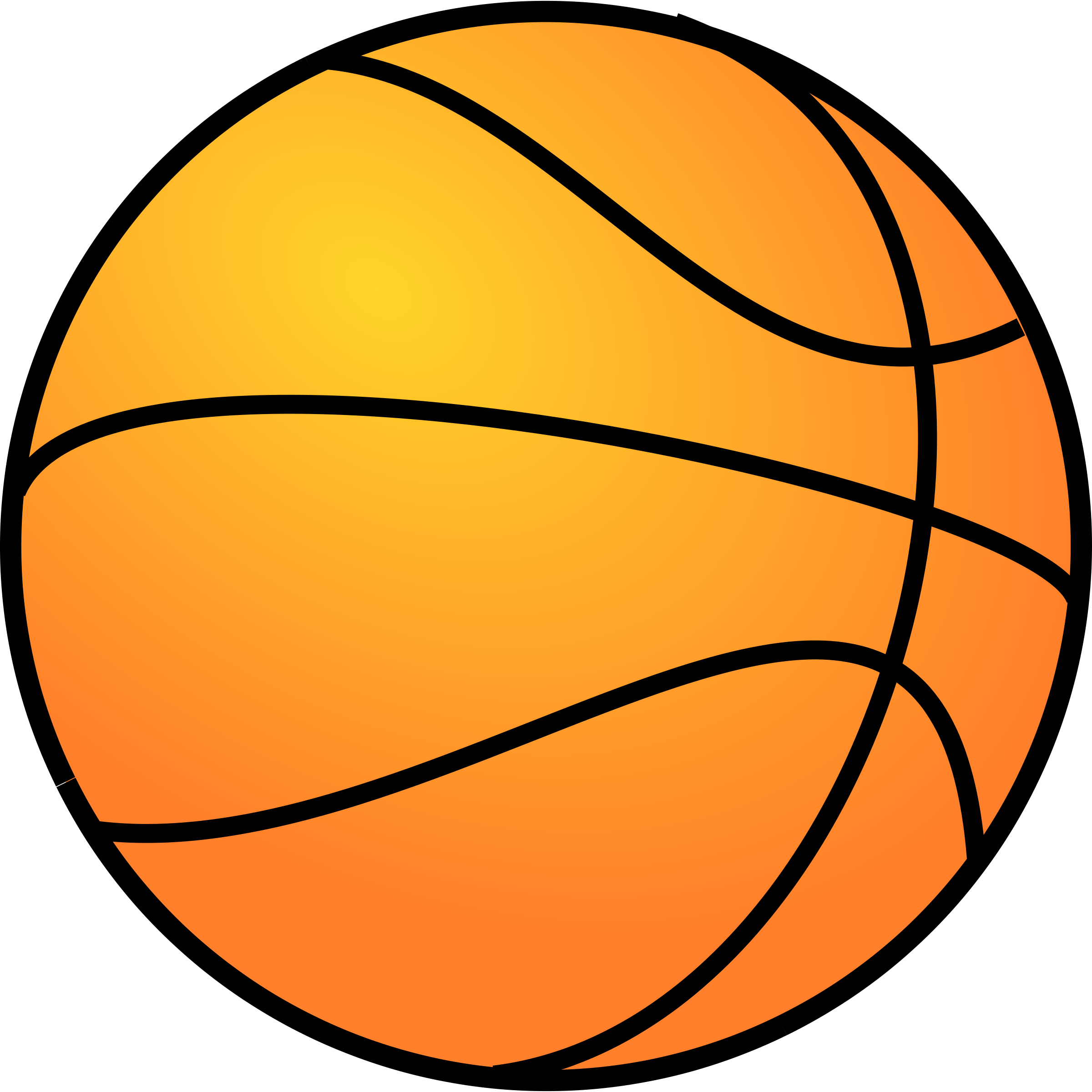 Basketball Ball Clipart Black And White | Clipart Panda - Free ...