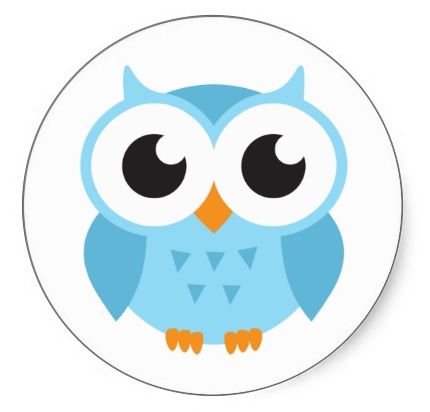 Cute blue cartoon baby owl stickers - ClipArt Best - ClipArt Best