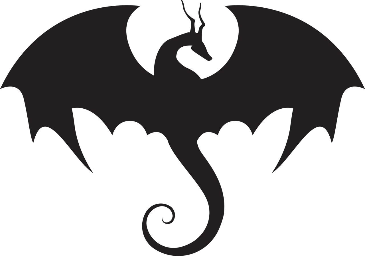 Dragon Silhouette - Cliparts.co