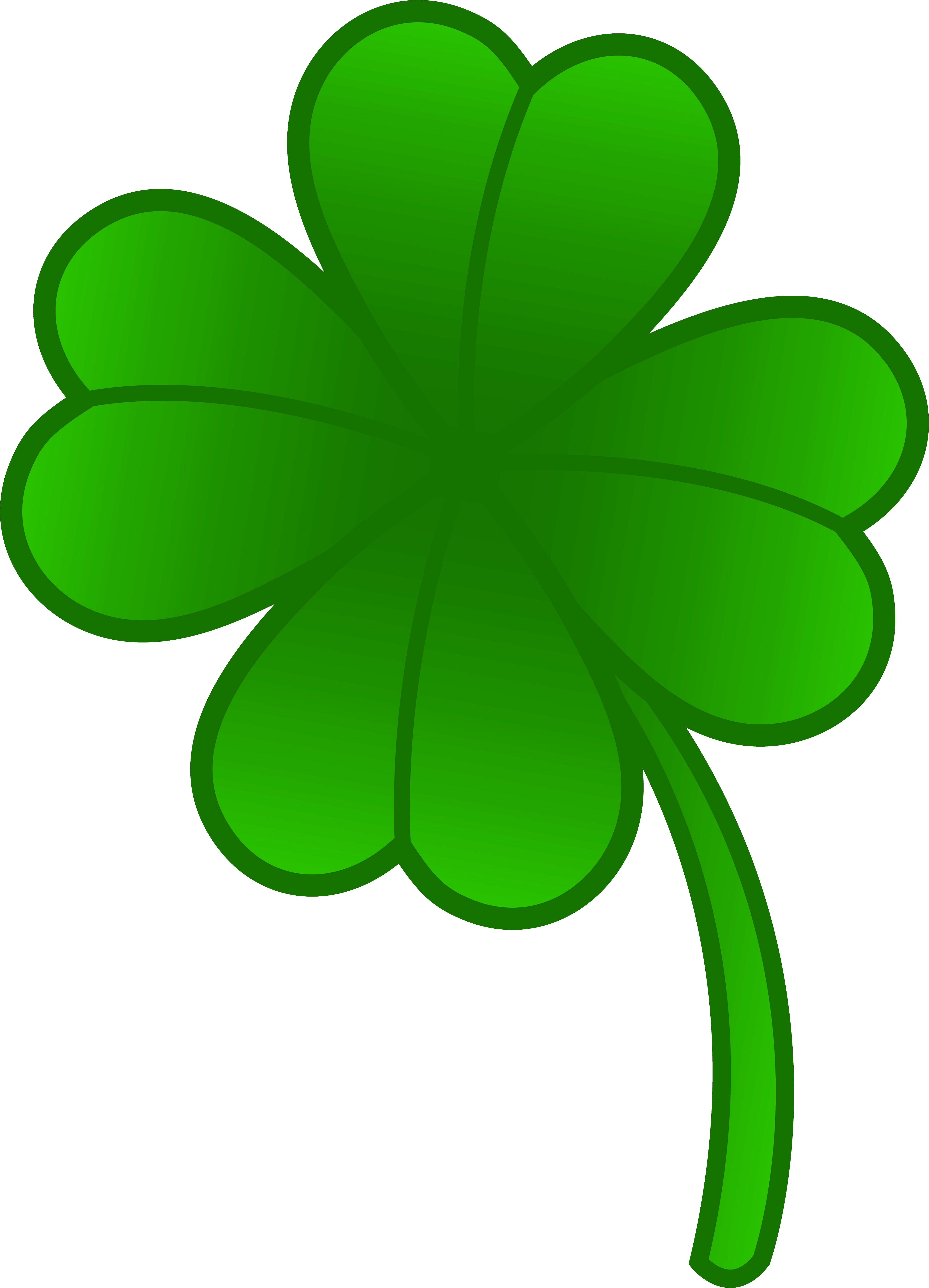 4 Leaf Clover Art - Cliparts.co