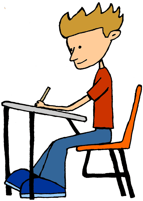 Students Writing Clipart