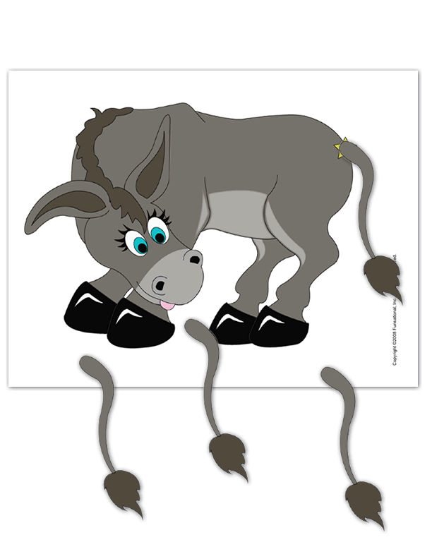 graphic relating to Pin the Tail on the Donkey Printable titled Printable Pin The Tail Upon The Donkey -
