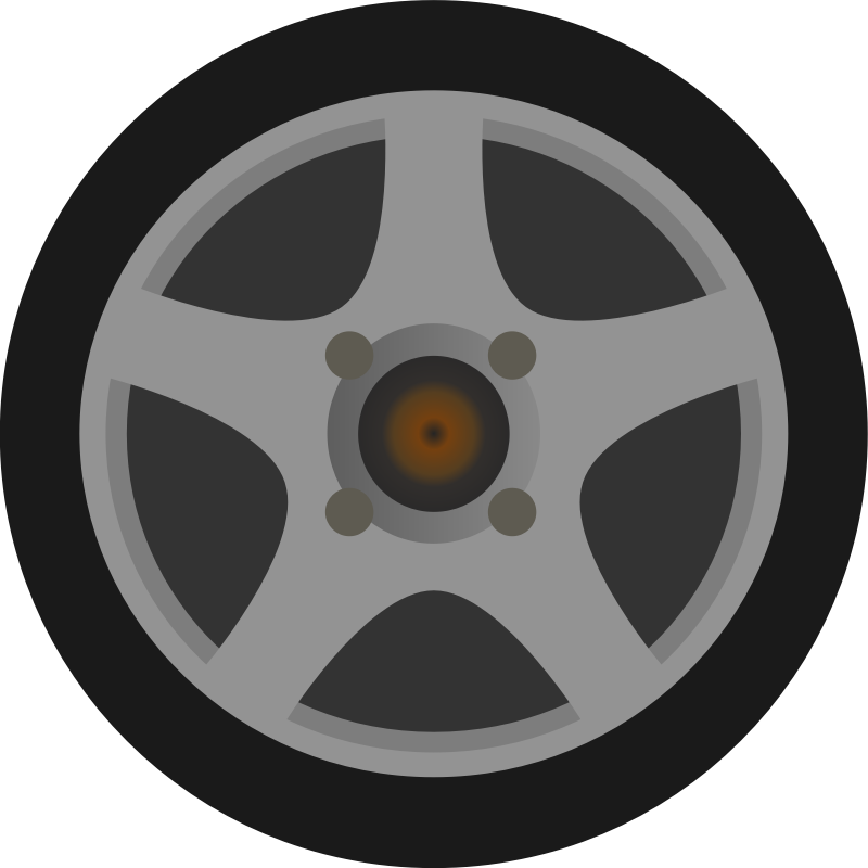 Clipart - Simple Car Wheel/Tire Side View