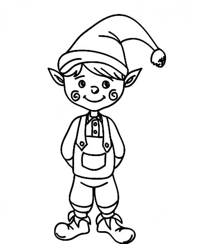 Image Result For Chirtsmas Elf Coloring Pages