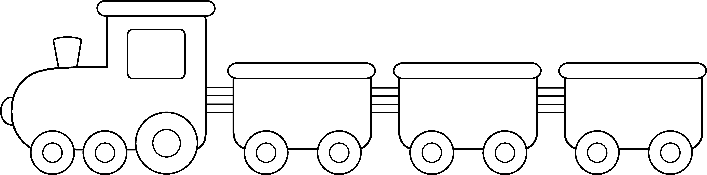 Картинка раскраска поезда с вагонами