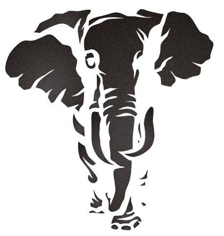 elephant stencil   cliparts co