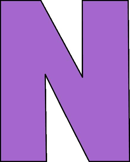 Block Letter N Template