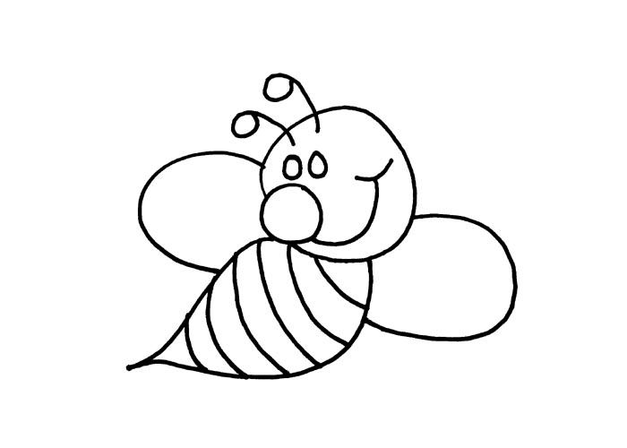 kids coloring bumble bee outline clip art bumble bee