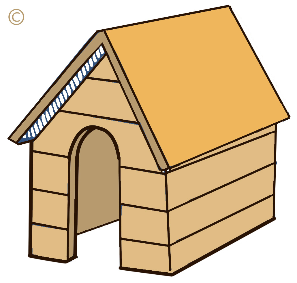 dog in doghouse clipart - photo #50