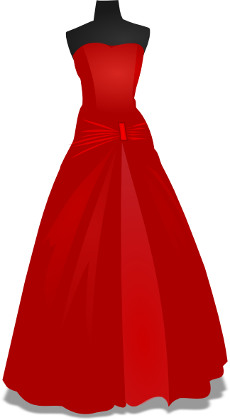 Red wedding gown clip art vector clip art online royalty free