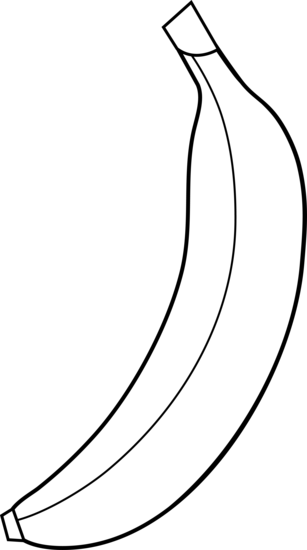Line Drawing Banana : Banana clip art free cliparts