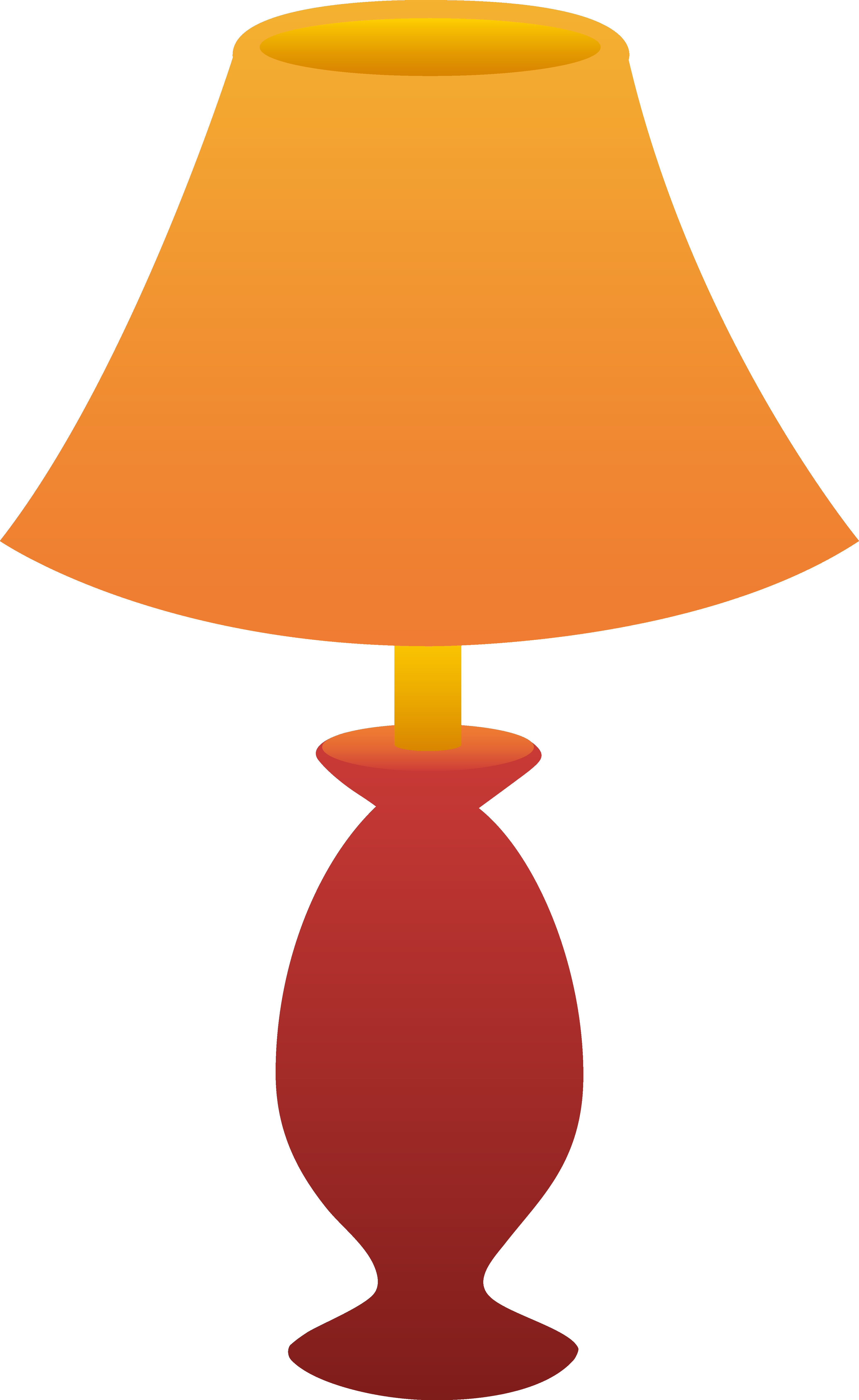 Red Table Lamp - Free Clip Art  Table Lamp Clipart