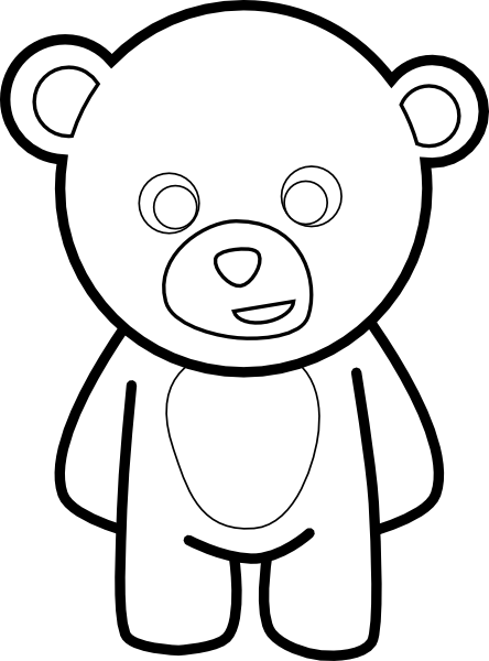 teddy bear outline – 444×600 kids coloring pages, printable ...