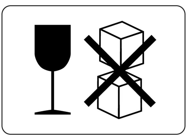 Fragile, Do Not Stack Packaging Symbol Label | TR10305 ...