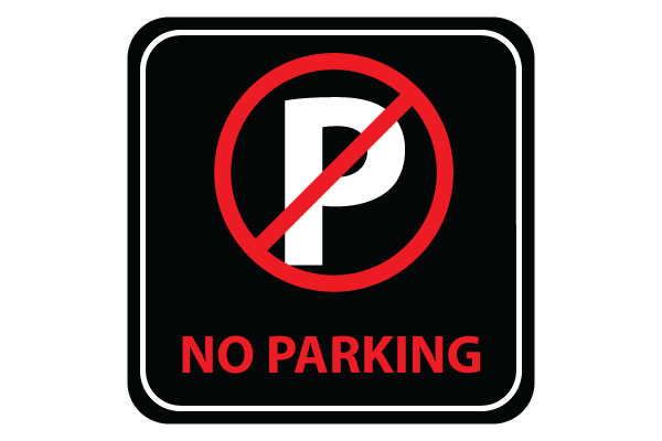 Soft image throughout printable no parking signs