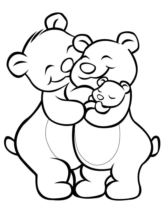 cartoon teddy bear coloring pages - photo#26