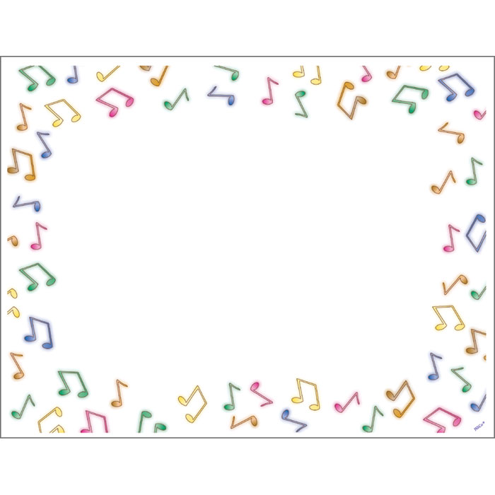 Music Note Border - Cliparts.co