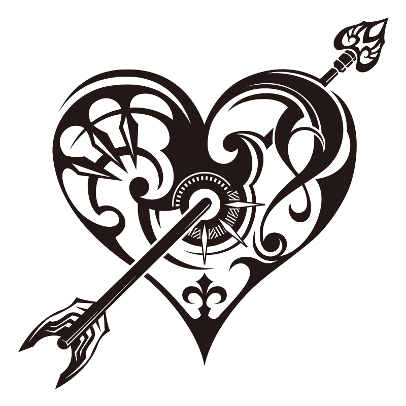 Pictures Of Heart Designs Tribal Heart Drawing