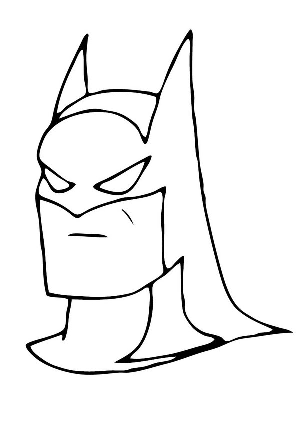 coloring pages batman printable template - photo#11