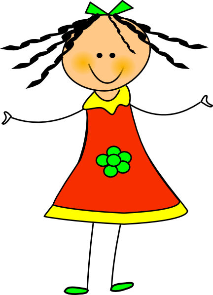 Happy Girl Clip Art Free on jrac