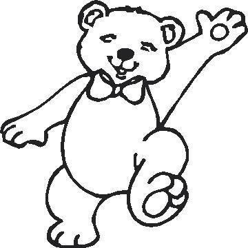 Teddy Bear Outline - Cliparts.co
