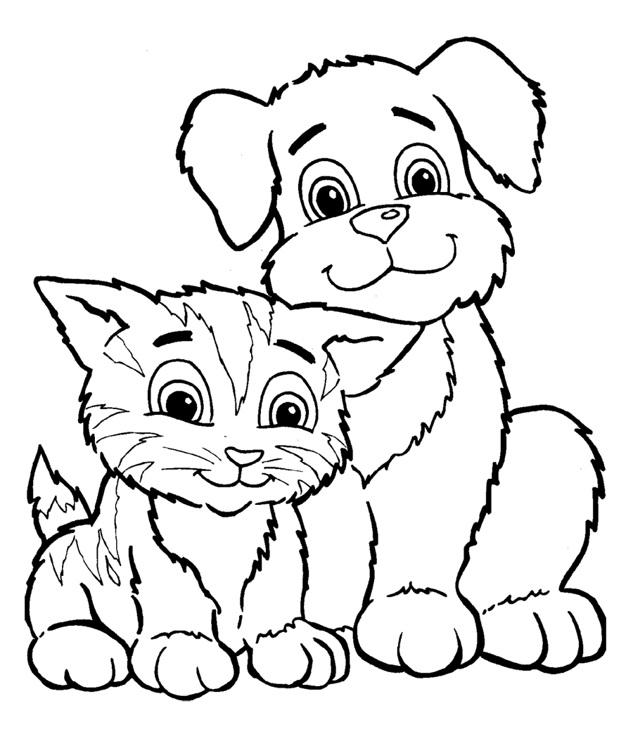 cute baby pupies Colouring Pages (page 2)
