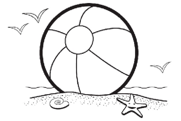 Beach Ball Coloring Pages Cliparts Co Free Balls Coloring Pages
