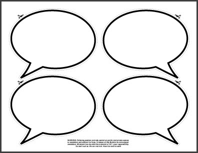 Printable speech bubbles cake ideas and designs for Photo booth speech bubble template
