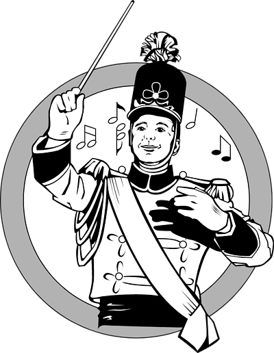 Marching Band Conductor Clipart