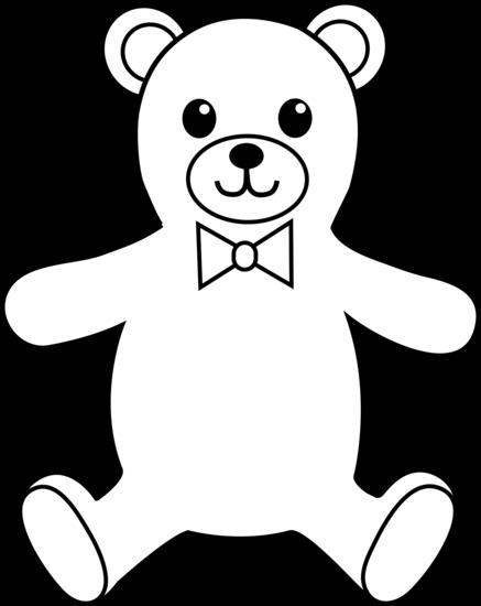 Line Art Bear : Teddy bear clipart black and white cliparts