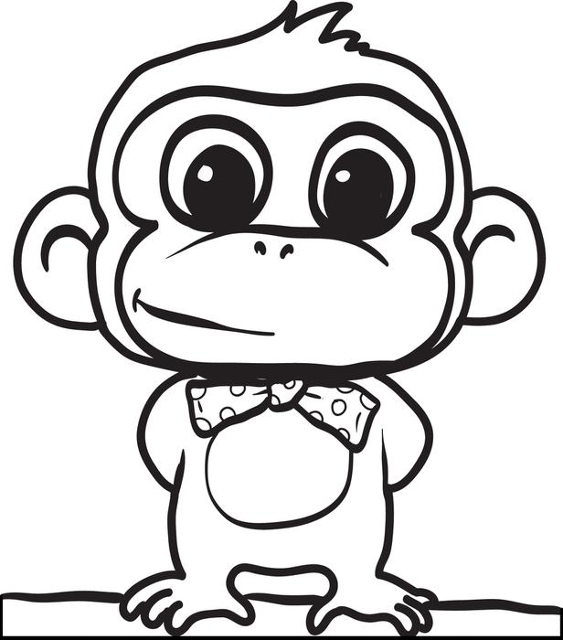 cartoon monkeys coloring pages - photo#1