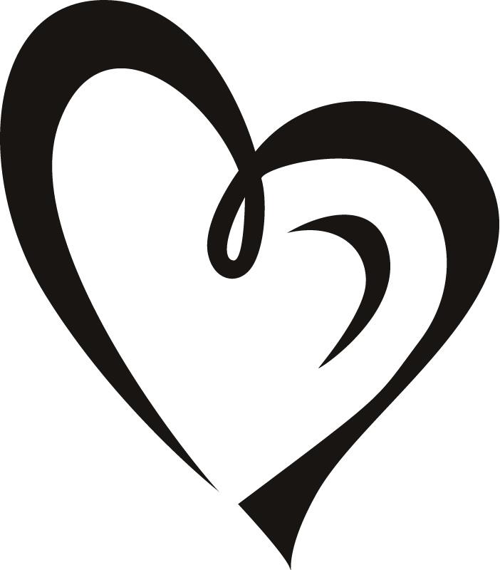 Line Art Heart Outline : Heart outline clipart cliparts
