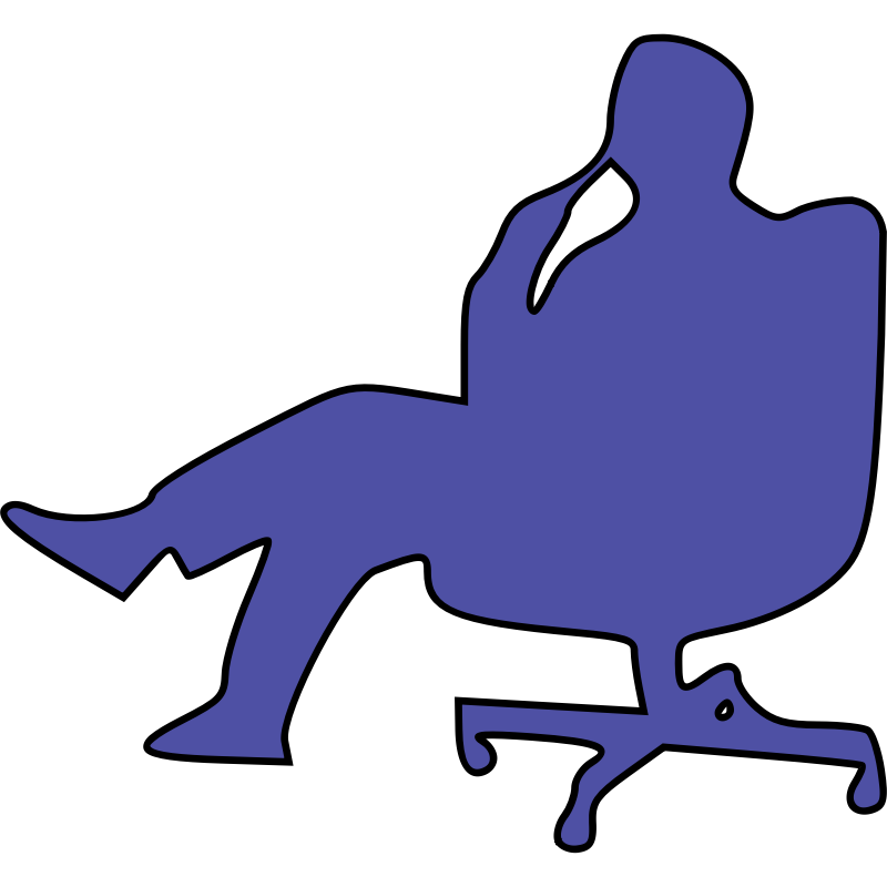 Clipart - man in chair thinking