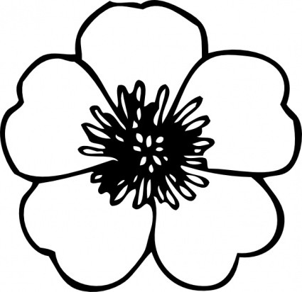 Clip Art Flower Black And White | Clipart Panda - Free Clipart Images