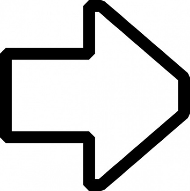 clipart arrow outline - photo #7