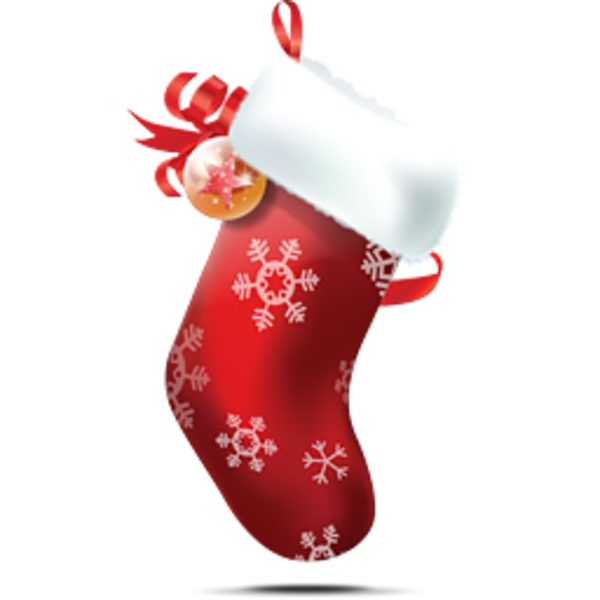 Christmas Stocking 2 image - vector clip art online, royalty free ...